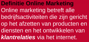 Definitie Online Marketing